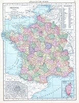 France, World Atlas 1913